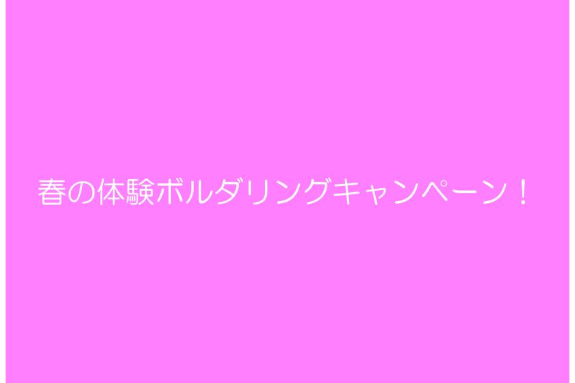 春の体験ボルダリングキャンペーン-01